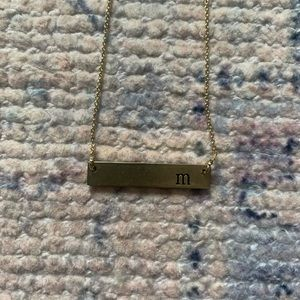 Jewelry - Letter M Gold Necklace